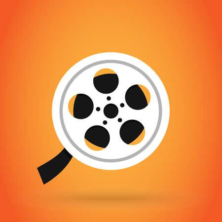 cinema and Movie Reel tape, realistic design illustration vector Illustration