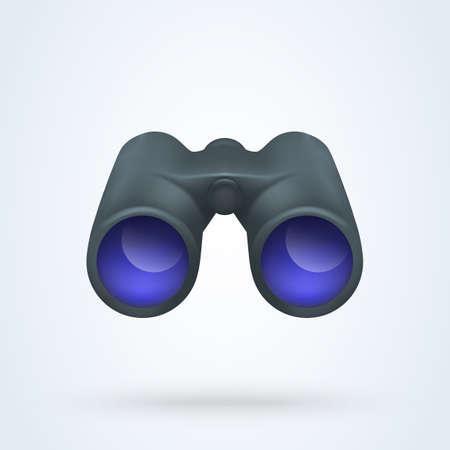 Realistic binoculars vector. illustration Isolated on white background 向量圖像