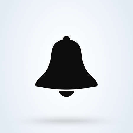 Bell Simple vector modern icon design illustration.