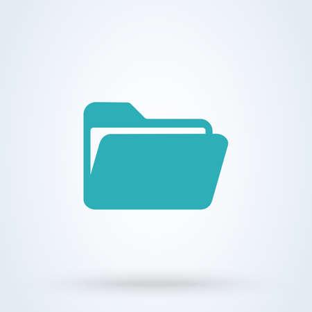 folder and file Simple vector modern icon design illustration.