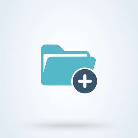 add and plus file Simple vector modern icon design illustration. 일러스트