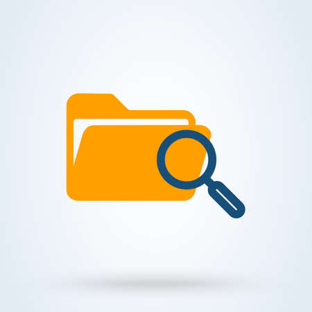file document search, Simple vector modern icon design illustration. Stockfoto - 131785401