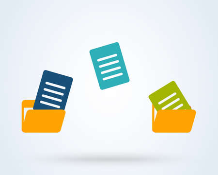 transfer and copy Folder. Simple vector modern icon design illustration. Stock Illustratie