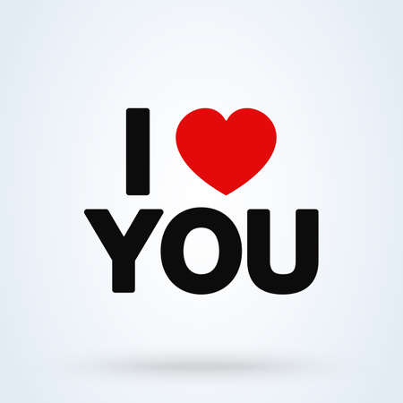 I love you Simple vector modern icon design illustration.