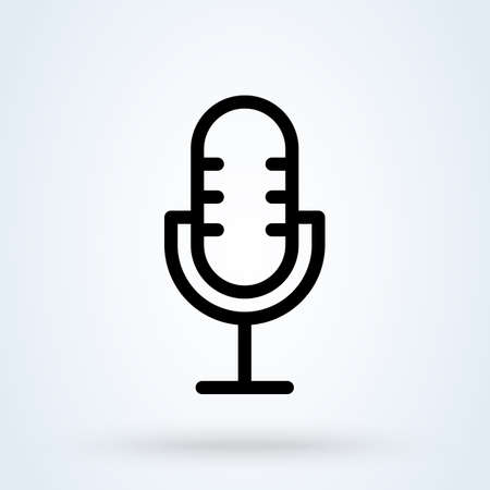 microphone line Simple vector modern icon design illustration.