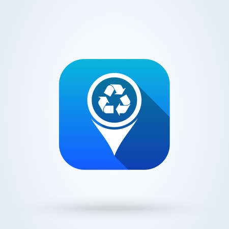 Refresh Map Marker. Location pointer Simple vector modern icon design illustration. Illustration