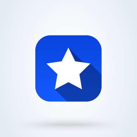 Clasic star Simple vector modern icon design illustration.