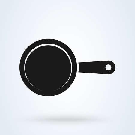 Pan-Vektor-Symbol oben. Küchenwerkzeugsymbol isoliert Vektorgrafik