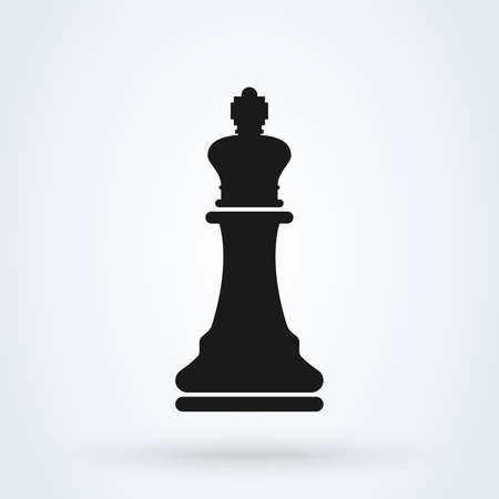 Vector illustration of chess king icon.