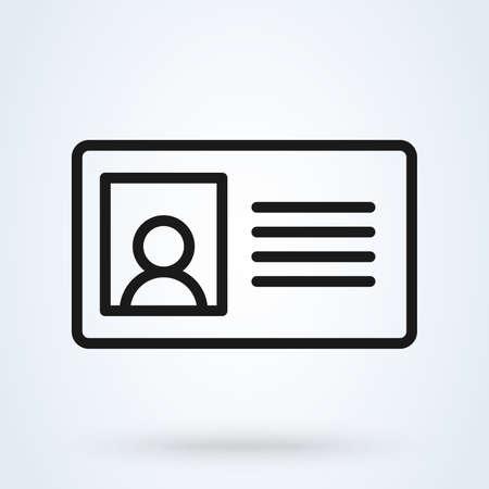 ID Card Icon - User With Identity Profile Vector illustration Ilustración de vector
