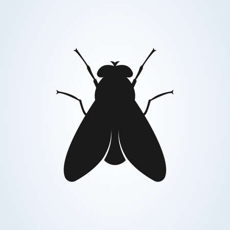 Fly icon silhouette vector illustration isolated on white background