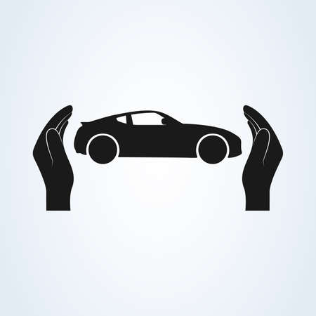 Car Protection icon vector. car insurance and collision damage waiver concepts