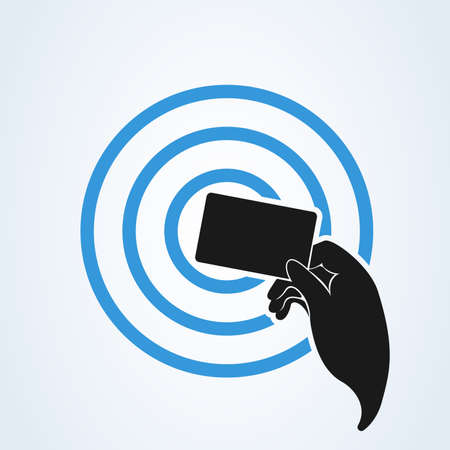 Mobile payment concept. Near-field communication concept icon. Technology for contactless payment.