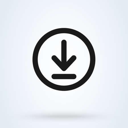 Scarica e installa l'illustrazione moderna di progettazione dell'icona di vettore semplice.