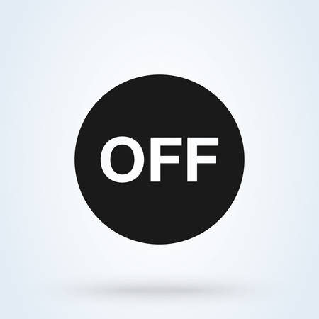 Off Switch button Simple vector modern icon design illustration.