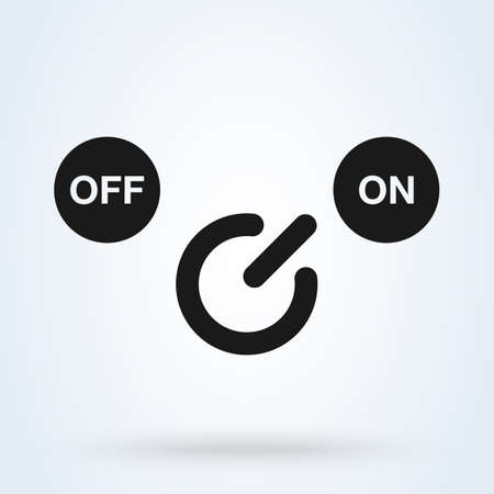 On and Off Simple vector modern icon design illustration. Banco de Imagens - 133659443