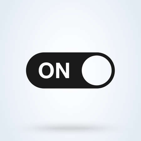 On Switch button Simple vector modern icon design illustration.