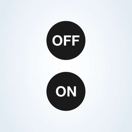 On and Off Simple vector modern icon design illustration.