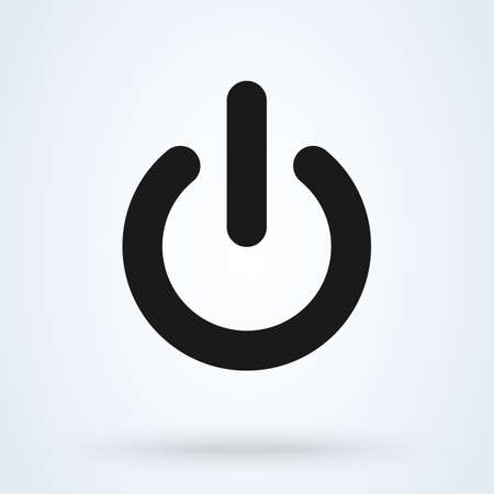 Power Switch On Off Simple vector modern icon design illustration.