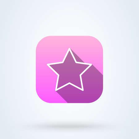 Clasic star Simple. Outline vector modern icon design illustration. Ilustração