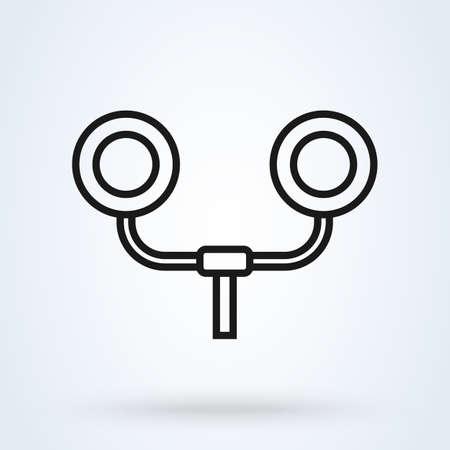 Traffic light railway, train station. line Simple vector modern icon design illustration.