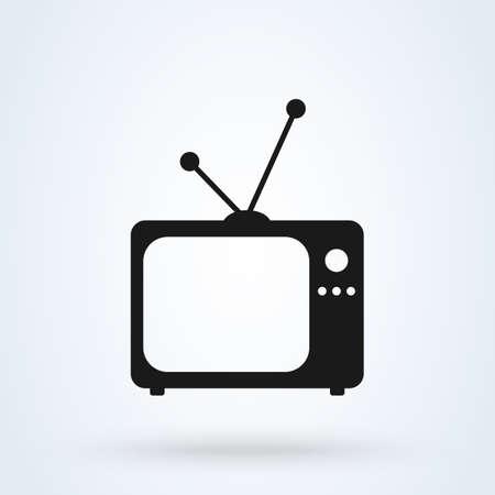 tv old. Simple vector modern icon design illustration. Ilustração