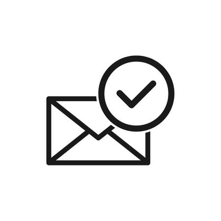 mail confirmation. Simple vector modern icon design illustration.