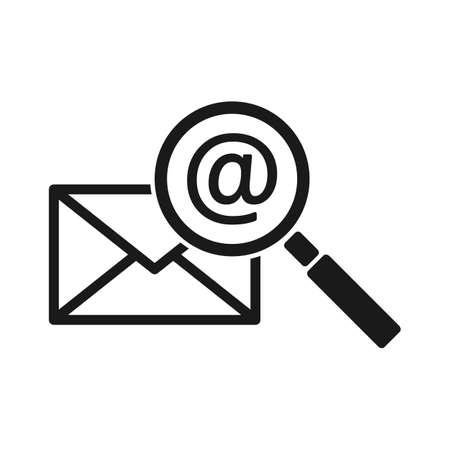 search email and letter. Simple vector modern icon design illustration. Ilustração