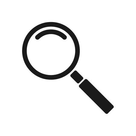 search magnifier. Simple vector modern icon design illustration. Ilustração