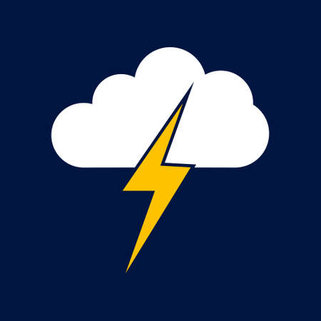 cloud lightning Simple vector modern icon design illustration.