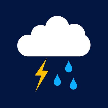 rain lightning Simple vector modern icon design illustration.