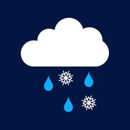 snow rain Simple vector modern icon design illustration. Ilustração
