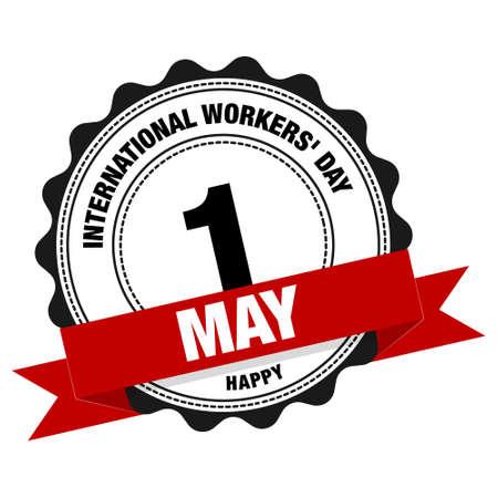 International Workers Day. Simple vector modern design illustration. Ilustração