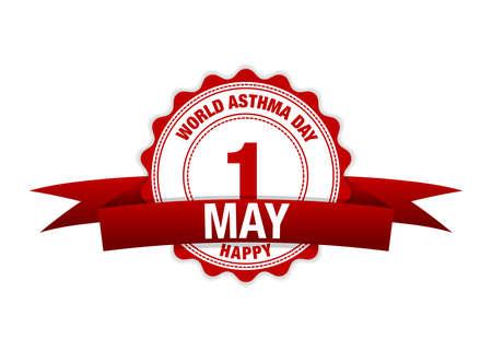 World Asthma Day. Simple vector modern design illustration.