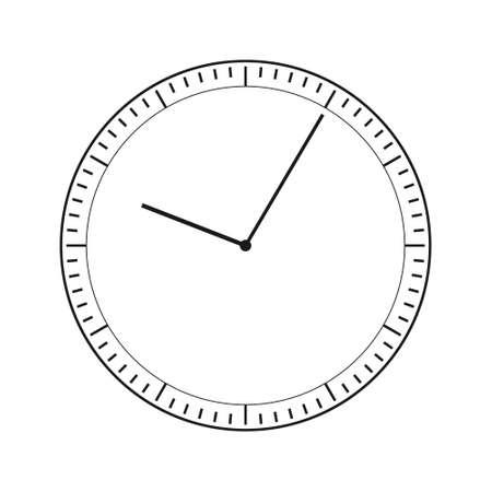 clock flat Simple vector modern icon design illustration.