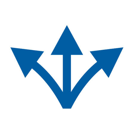 direction flat Simple vector modern icon design illustration. Ilustração