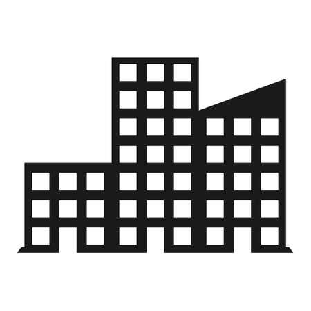 apartamento negro Ilustración de diseño de icono moderno de vector simple.