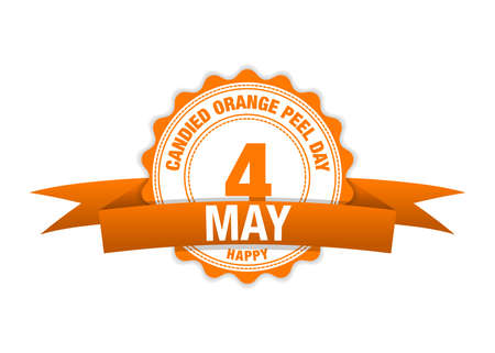 Candied Orange Peel Day. Simple vector modern design illustration.