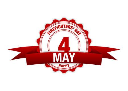 Firefighters Day. Simple vector modern design illustration. Ilustração