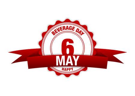 National Beverage Day 6 May. Simple vector modern design illustration Ilustração