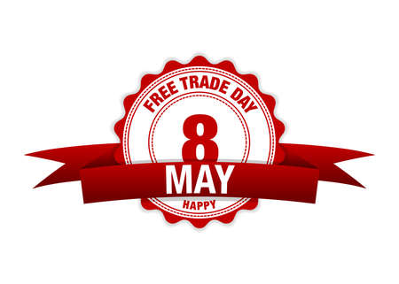 Free Trade Day 8 may. Simple vector modern design illustration Ilustração