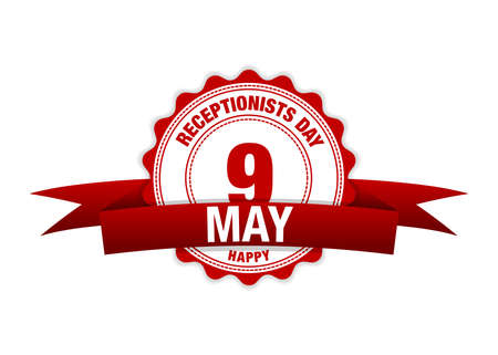 13th May Receptionists Day. Simple vector modern design illustration