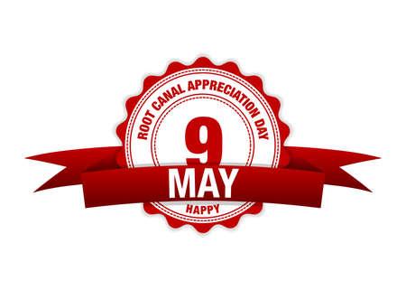 Root Canal Appreciation Day 9 may. Simple vector modern design illustration Ilustração