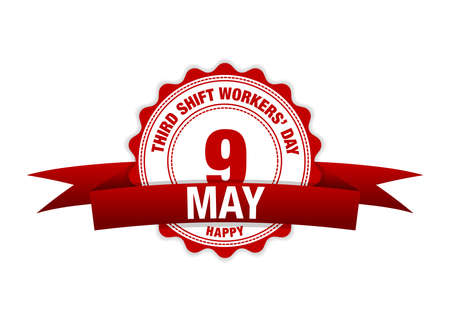 Third Shift Workers' Day 13th May. modern design illustration. Stock Illustratie