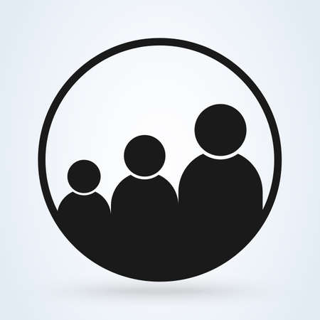general audience. Simple vector modern icon design illustration. Ilustração