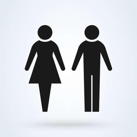 man and woman. Simple vector modern icon design illustration. Vector Illustratie