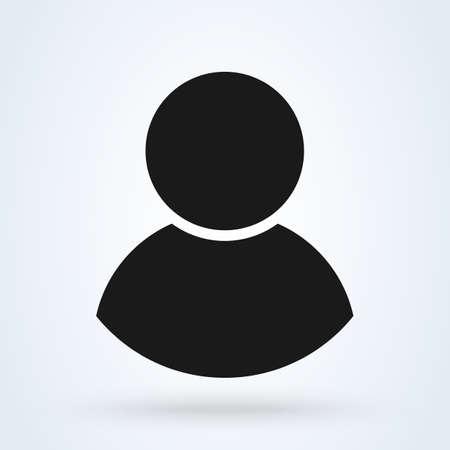 No Man Entry Sign. Simple vector modern icon design illustration. Ilustração