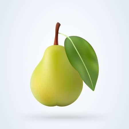 realistic pear, Simple vector modern design illustration. Ilustração
