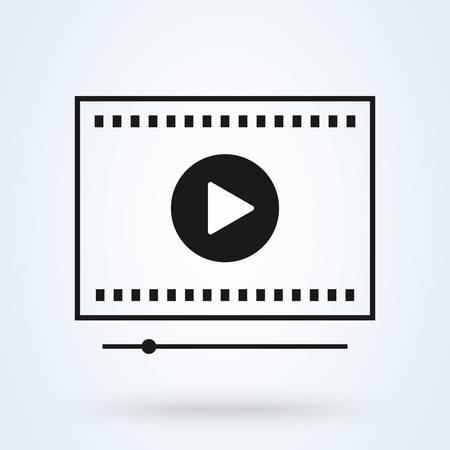 Media player interface, play. Simple vector modern icon design illustration. Ilustração