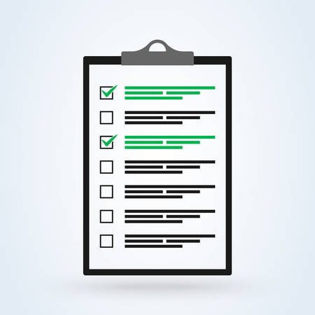 checklist in a flat style. Simple vector modern design illustration.
